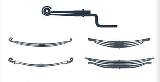 China Truck Chassis Leaf Spring Suspension Parts , Flat Leaf Springs Rear Position supplier